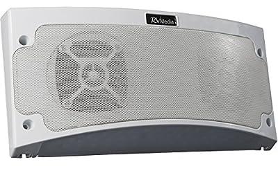 KING RVM1000 Bluetooth Outdoor Speaker with White LED Light - White