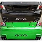 2004-06 PONTIAC GTO SAP Rear Bumper Valence Vinyl Inserts Decals Letters - 38 Colors to choose from (Color :: Chrome Mirror Silver)