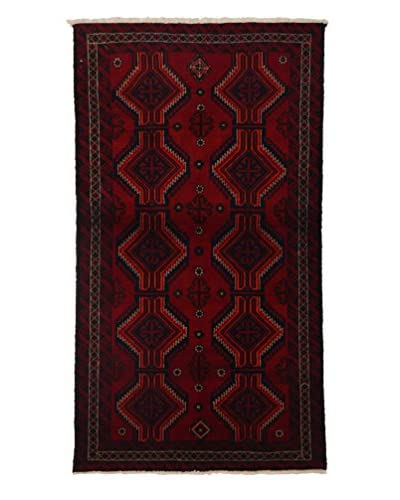 Persian Baluch Rug, Red, 3' 4 x 6'