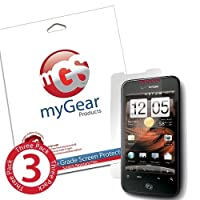 myGear Products RashGuard Screen Protector Film for HTC Droid Incredible 2 & S - (3 Pack) Anti-Fingerprint
