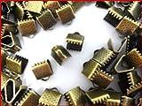 【HARU雑貨】金古美 10個セット/ワニ口 6mm 留め具 クリップ 紐止め/金具 パーツ