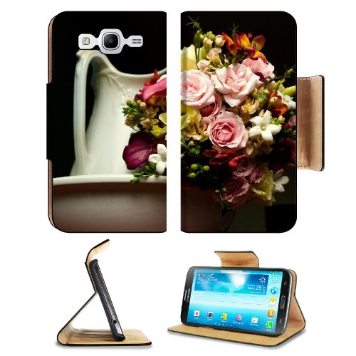 Roses Calla Bouquet Flowers Pots Samsung Galaxy Mega 5.8 I9150 Flip Case Stand Magnetic Cover Open Ports Customized Made To Order Support Ready Premium Deluxe Pu Leather 6 1/2 Inch (165Mm) X 3 2/5 Inch (87Mm) X 9/16 Inch (14Mm) Liil Mega Cover Professiona