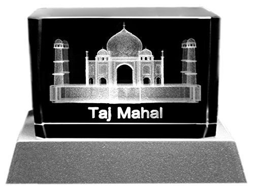 kaltner-prasente-ambient-lighting-led-candle-light-glass-block-with-design-of-taj-mahal-laser-etched