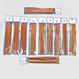 Ostart 5 Sets of 11 Sizes 5'' (13cm) Double Pointed Carbonized Bamboo Knitting Kits Needles Set (2.0mm - 5.0mm)