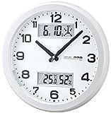 MAG(マグ) 電波壁掛け時計 ダブルスライト 温度湿度 カレンダー表示 パールホワイト W-630PW