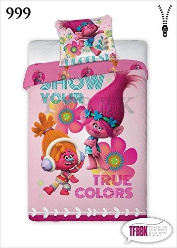 set-letto-trolls-poppy-e-dj-suki-show-your-true-colors-160x200cm-copripiumino-100-cotone-originale