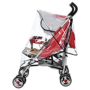 Marrywindix Universal Clear Waterproof Rain Cover Wind Shield Fit Most Strollers Pushchairs