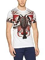Dirk Bikkembergs Camiseta Manga Corta (Blanco / Rojo)