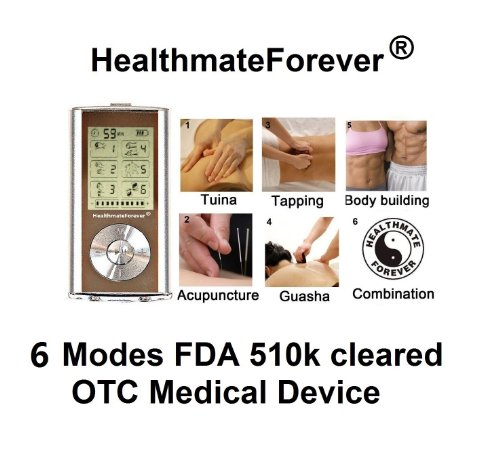 Holiday Special Fda Cleared Healthmateforever 6 Modes, Full Body Hands Free Pain Relief Pro Electrotherapy Device Palm Massager 4 Pads On Body At Same Time, (100% Quality Guarantee) Digital Physiotherapy Machine Lifetime Warranty