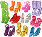 10 Pairs of Doll Shoes, Fit Barbie Do...