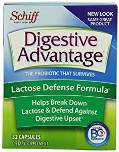 Digestive Advantage Probiotics -Lactose Defense Formula Probiotic Capsules-Helps prevent symptoms of lactose intolerance-Survives 100x better than yogurt and leading probiotic-96 capsules (32 Capsules in Pack of 3)