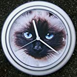 Quartz wall clock Birman cat