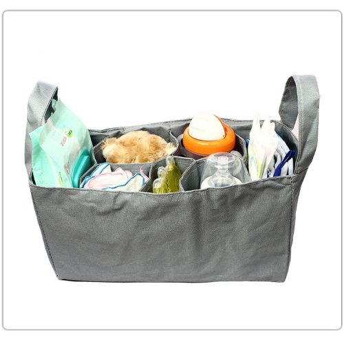 Baby Bottle Diaper Bag Organizer / Divider - Grey