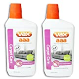 VAX AAA Carpet Machine Shampoo Cleaner Care Formula (2 X 500ml, Low Foam, Woolsafe)