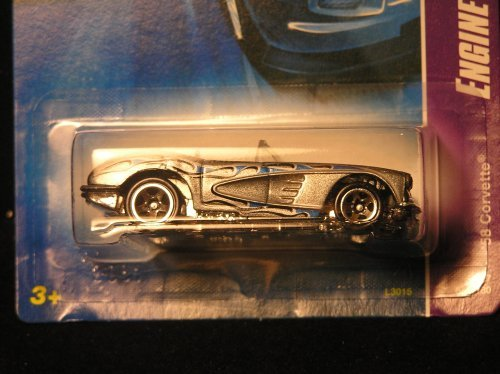 MATTEL HOT WHEELS - '58 CORVETTE - ENGINE REVEALERS !! + PLUS FREE GIFT !! #059/180 - 1
