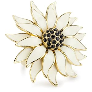 "Kate Spade New York ""Black Eye Susan"" Floral Ring, Size 7"