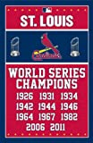 "St. Louis Cardinals - World Series Champions MLB 22""x34"" Art Print Poster at Amazon.com"