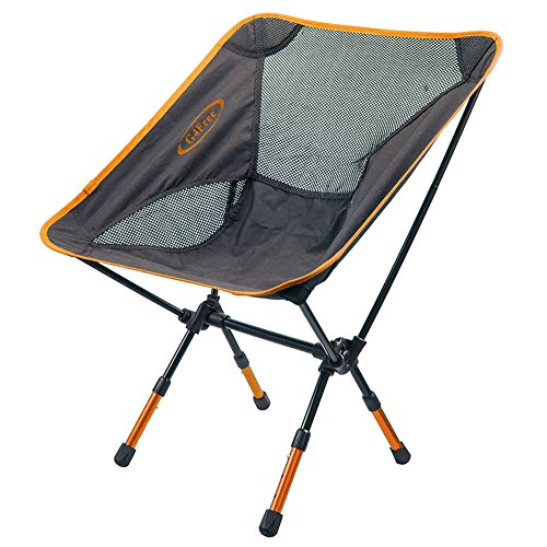 G4Free Portable Ultralight Outdoor/Picnic/Fishing Folding Sports Chairs Ground Chair (Adjustable Orange)