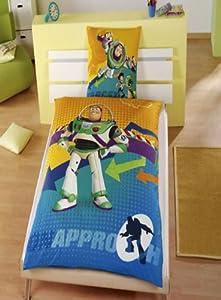 Parure linge de lit housse de couette taie d oreiller buzz l eclair toy story enfant garcon - Parure de lit buzz l eclair ...
