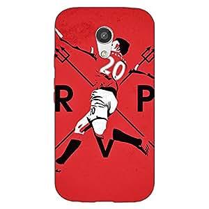 Jugaaduu Manchester United Robin Van Persie Back Cover Case For Moto G (2nd Gen)