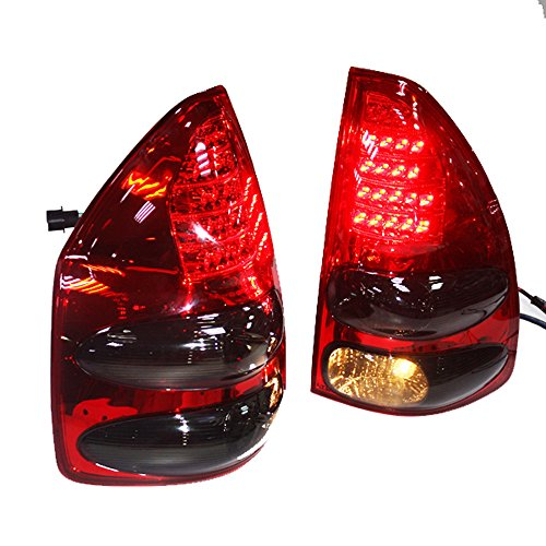 Generic LED Back Light 2003 to 2009 Year for Toyota Prado FJ120 Red Black Color (Toyota Prado Lights compare prices)