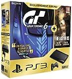Console PS3 Ultra slim 500 Go noire + Gran Turismo 6 - �dition sp�ciale + The Last of Us