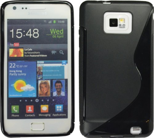Black S-Line Tpu Case For Samsung Galaxy S Ii S 2 I9100 Crystal S2