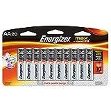 Baterías Energizer Max AA, paquete de 20