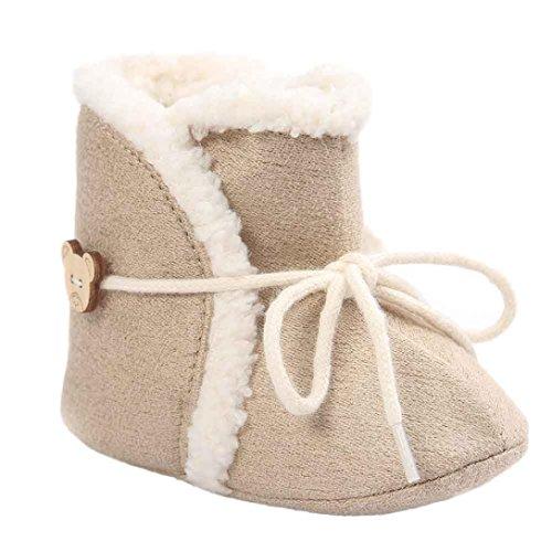 Kingko® carina bambino molli soli scarponi da neve scarpe culla morbidi stivali bambino scarpe inverno del bambino (0~6 mesi)