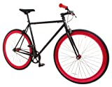 Vilano Rampage Fixed Gear Bike Fixie Single Speed Road Bike Black