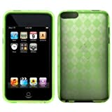 TechMart Durable Gel Skin Protector Case with Diamond Checker Design for Apple iPod Touch 8GB 32GB 64GB 2nd/3rd Generation (Green)
