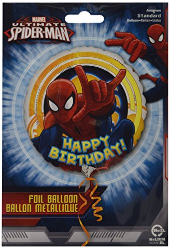"The Ultimate Spiderman Happy Birthday 17"" Mylar Foil Balloon - 1"