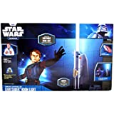 Uncle Milton Star Wars Science 25 Inch Long Remote Controlled Jedi Knight LIGHTSABER Room Light Kit with 8 Color Effects Plus Auto-Spectrum, Mounts to Wall, Sounds Effect and IR Remote Control with Manual and Auto Spectrum Modes