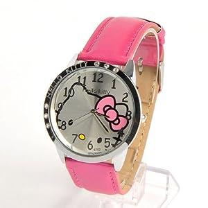 Hello Kitty Girls Round Face Wrist Watch Rose