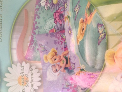 Disney Fairies Cotton Rich Reversible Pillowcase