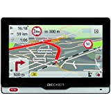 "BECKER revo.2 Truck & Camper Sat Nav, 12.7 cm (5"") Capacitive Glass Panel, Europe Maps (45 Countries), ProActive Auto Start, Lifetime Map Updates, Connector for Rear View Camera, Black/Cold Steel"