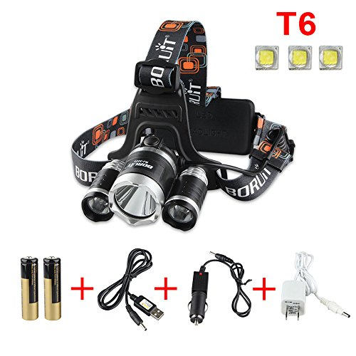 GRDE™ 3 Cree XM-L T6 LED 4000 Lumens Headlamp