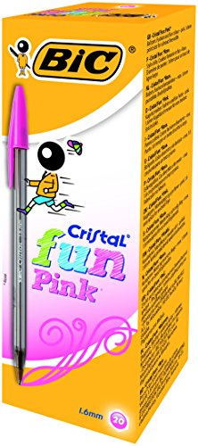 bic-cristal-fun-16-stylo-bille-non-retractable-rose