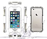 iPhone SE Waterproof Case, iPhone SE Case,iPhone 5S Case,Jamesay Shockproof Dust Proof Snow Proof IP-68 Underwater Full Body Heavy Duty Protective Cover For Apple iPhone SE/5S/5(White)