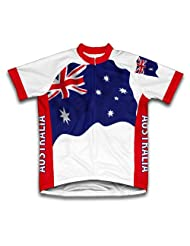 Australia Flag Short Sleeve Cycling Jersey for Women