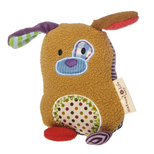 Mary Meyer Natural Life Baby Animal Plush Rattle, You Are Loved Puppy