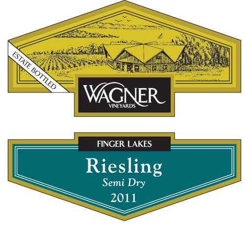 2011 Wagner Vineyards Riesling Semi-Dry Library 750 Ml