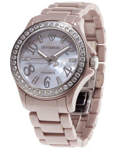 Detomaso DT3015-C - Reloj analógico de cuarzo para mujer con correa de cerámica, color gris