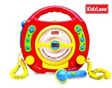 Kids Portable Sing Along CD, MP3 & USB Player, with 2 Microphones, Anti-skip Protection