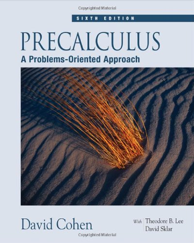 Precalculus: A Problems-Oriented Approach (With Cd-Rom And Ilrn(Tm) Tutorial)