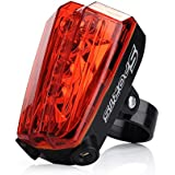 VicTsing® Waterproof 5 LED Bike Bicycle Cycling Rear Tail Light Safety Warning Flashing Light Lamp for Outdoor Cycling Camping
