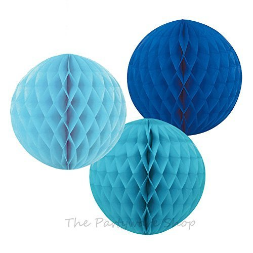 ocean-mix-honeycomb-ball-decorations-royal-blue-baby-blue-and-caribbean-teal