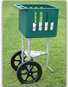 Baseball Softball Field Cart - Adjustable Height Plastic Hopper by Athletic Connection