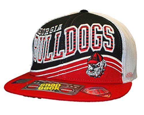 Ncaa Top Of The World Georgia Bulldogs Electric Slide Snapback Hat - Red/Black/White