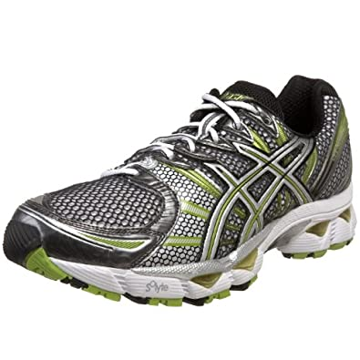 ASICS Men's GEL-Nimbus 12 Running Shoe,White/Lightning/Lime,7.5 M US